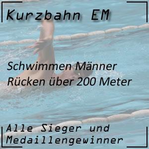 Kurzbahn EM Rücken 200 m Männer
