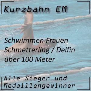 Kurzbahn EM Schmetterling 100 m Frauen