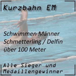 Kurzbahn EM Schmetterling 100 m Männer