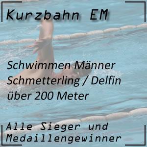 Kurzbahn EM Schmetterling 200 m Männer