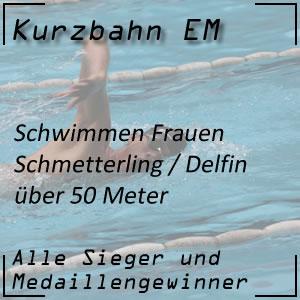 Kurzbahn EM Schmetterling 50 m Frauen