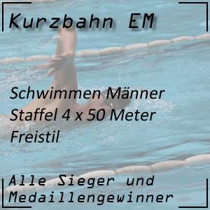 Kurzbahn EM Staffel Freistil 4x50 m Männer