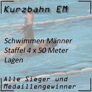 Kurzbahn EM Staffel Lagen 4x50 m Männer