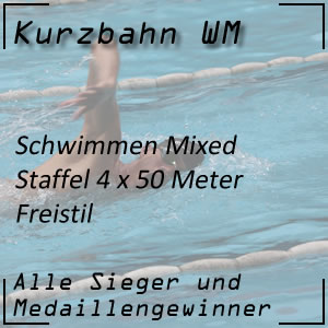 Kurzbahn WM Mixed-Staffel Freistil 4 x 50 Meter