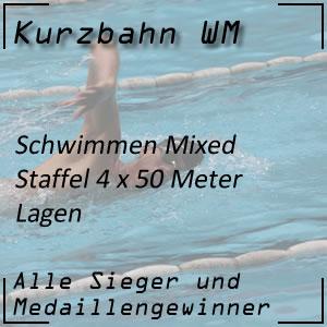 Kurzbahn WM Mixed-Staffel Lagen 4 x 50 Meter
