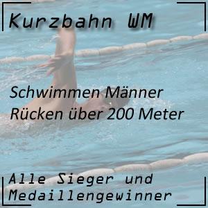 Kurzbahn WM Rücken 200 m Männer