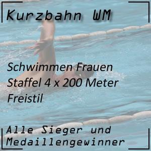 Kurzbahn WM Staffel Freistil 4x200 m Frauen