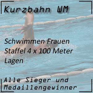 Kurzbahn WM Staffel Lagen 4x100 m Frauen