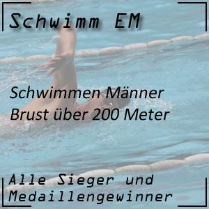 Schwimm EM Brust 200 m Männer