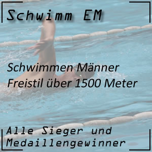 Schwimm EM Freistil 1500 m Männer