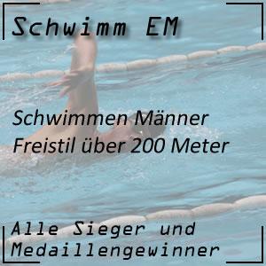 Schwimm EM Freistil 200 m Männer