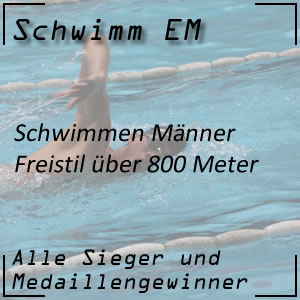 Schwimm EM Freistil 800 m Männer
