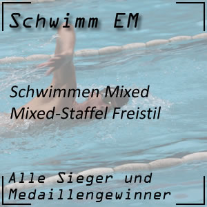 Schwimm EM Mixed-Staffel Freistil
