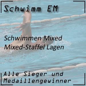 Schwimm EM Mixed-Staffel Lagen 4 x 100 m