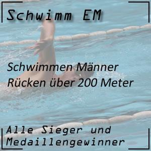 Schwimm EM Rücken 200 m Männer