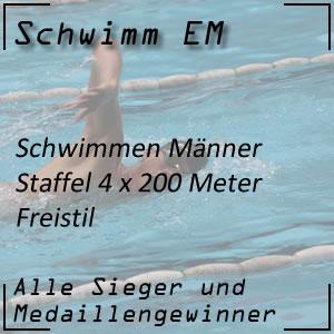 Schwimm EM Staffel Freistil 4x200 m Männer