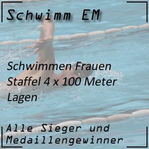 Schwimm EM Staffel Lagen 4x100 m Frauen