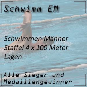 Schwimm EM Staffel Lagen 4x100 m Männer