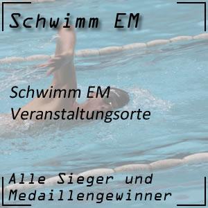Schwimm EM Veranstaltungsorte