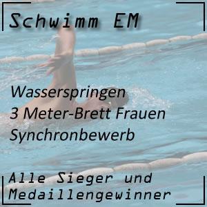 Wasserspringen EM 3 m synchron Frauen