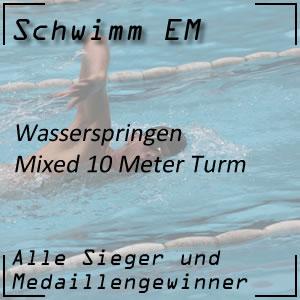 Wasserspringen EM 10 m Mixed