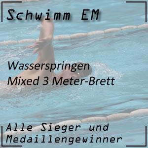 Wasserspringen EM 3 m Mixed