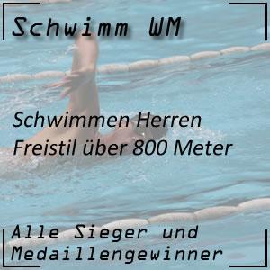 Schwimm WM Freistil 800 m Männer