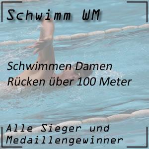 Schwimm WM Rückenschwimmen 100 m der Frauen