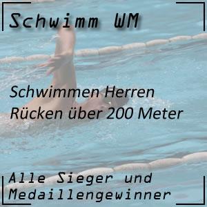 Schwimm WM Rücken 200 m Männer