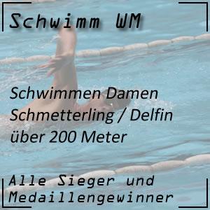 Schwimm WM Schmetterling 200 m der Frauen