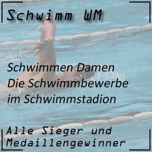 Schwimm WM Schwimmbewerbe der Damen