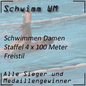 Schwimm WM Staffel Freistil 4x100 m Frauen