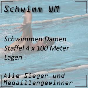 Schwimm WM Staffel Lagen 4 x 100 m der Frauen
