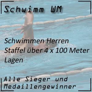 Schwimm WM Staffel Lagen 4 x 100 m der Männer