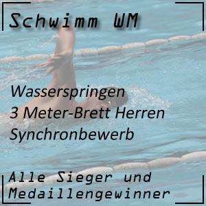 Wasserspringen 3 m Sychron Männer