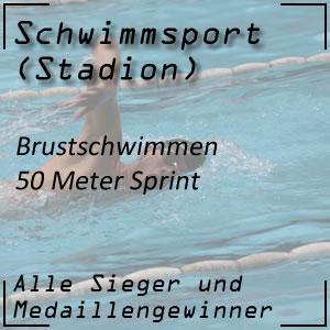 Brustschwimmen 50 Meter
