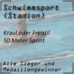 Schwimmen Freistil 50 Meter