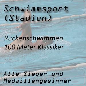Rückenschwimmen 100 m