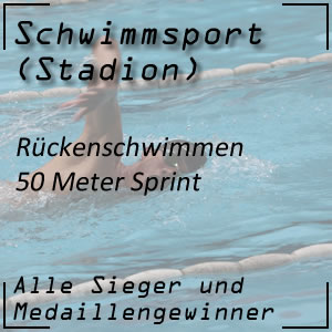 Rückenschwimmen 50 Meter