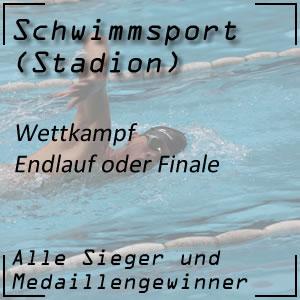 Schwimmen Wettkampf Endlauf Finale