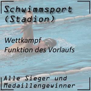 Schwimmen Wettkampf Vorlauf