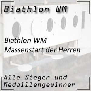 Biathlon WM Massenstart der Männer