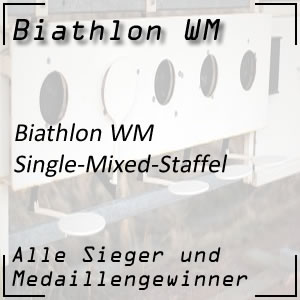 Biathlon WM Single-Mixed-Staffel
