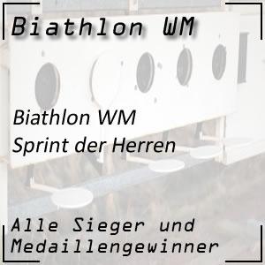 Biathlon WM Sprint Männer
