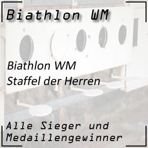 Biathlon WM Staffel Männer