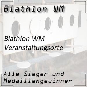 Biathlon WM Veranstaltungsorte