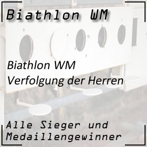 Biathlon WM Verfolgung der Männer