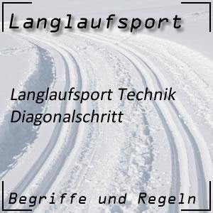 Langlauf Technik Diagonalschritt