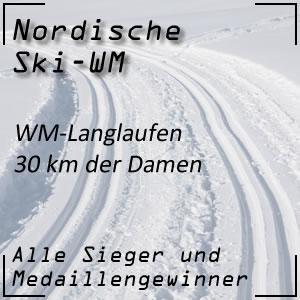 Nordische Ski-WM Langlaufen 30 km der Damen