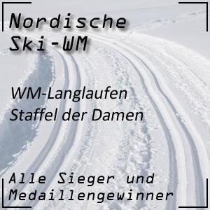 Nordische Ski-WM Langlauf-Staffel der Damen
